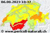 Cartina allerte di portale sui pericoli naturali